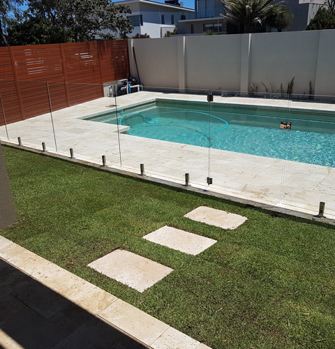 A pool landscaping project finished at City Beach just outside of Perth