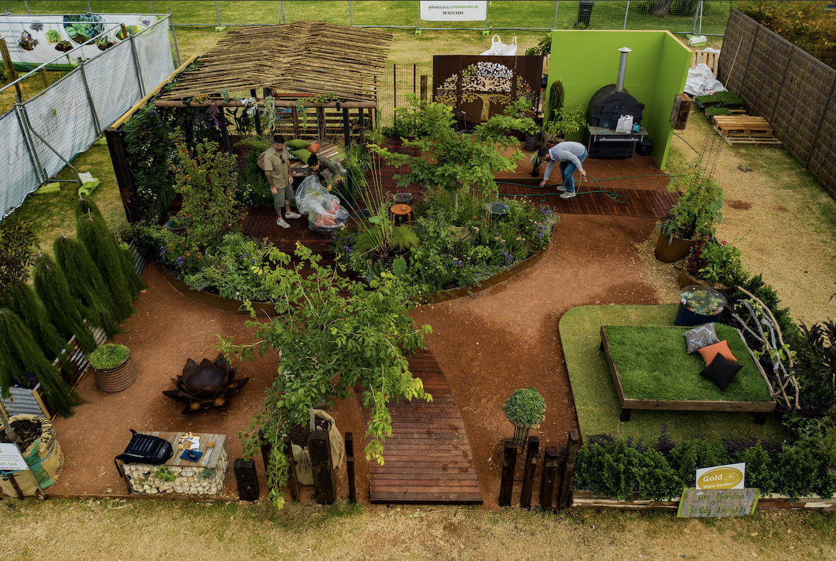 Gardening perfection at the Perth Gardening Festival by Alessio's Gardens.