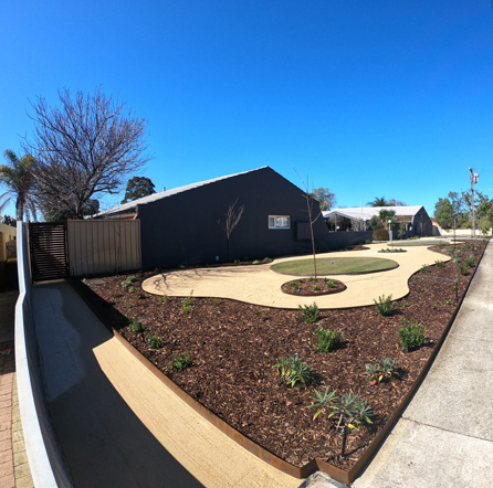 A recent residential landscaping project completed by Alessio's Gardens landscaping team
