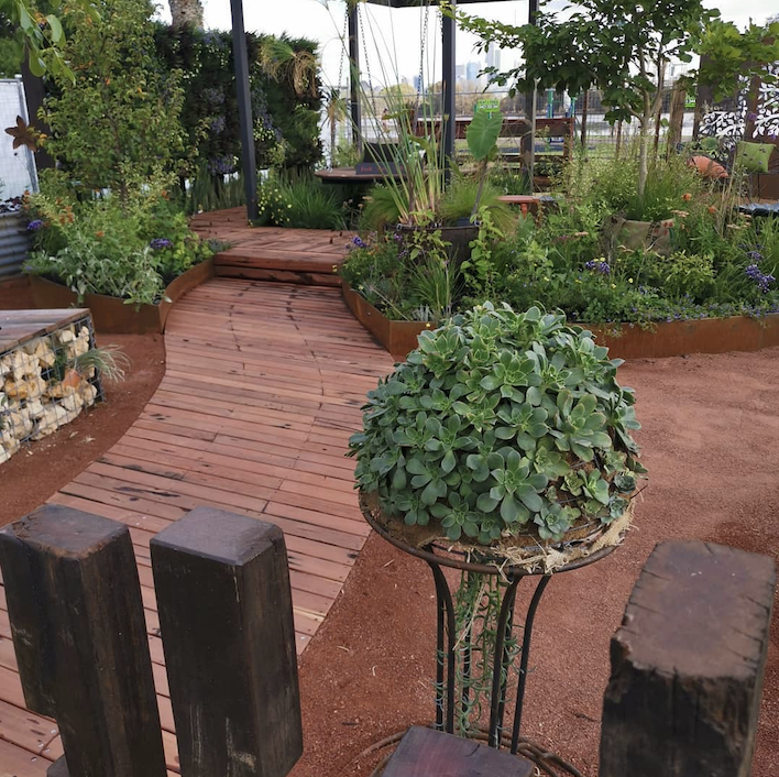 A garden landscaping project at the Perth Garden Festival in 2019.