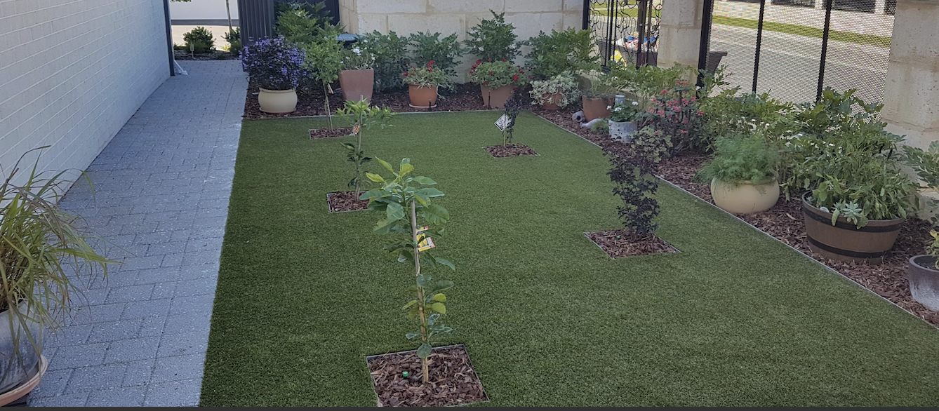 A competed landscaping process by Alessios Gardens.